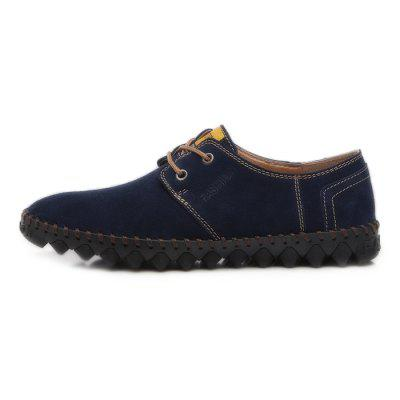 Men Casual Stitching Driving Lace Flat ShoesFlats &amp; Loafers<br>Men Casual Stitching Driving Lace Flat Shoes<br><br>Closure Type: Lace-Up<br>Contents: 1 x Pair of Shoes, 1 x Box, 1 x Dustproof Paper<br>Function: Slip Resistant<br>Materials: Rubber, Leather<br>Occasion: Tea Party, Party, Office, Holiday, Shopping, Casual, Daily<br>Outsole Material: Rubber<br>Package Size ( L x W x H ): 33.00 x 24.00 x 13.00 cm / 12.99 x 9.45 x 5.12 inches<br>Package weight: 0.9000 kg<br>Pattern Type: Solid<br>Product weight: 0.7000 kg<br>Seasons: Autumn,Spring<br>Style: Modern, Leisure, Fashion, Comfortable, Casual<br>Toe Shape: Round Toe<br>Type: Flat Shoes<br>Upper Material: Leather