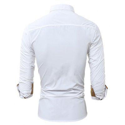 Stylish Men Casual Slim Long-sleeved ShirtMens Shirts<br>Stylish Men Casual Slim Long-sleeved Shirt<br><br>Closure Type: Button<br>Material: Cotton, Polyester<br>Occasion: Casual , Daily Use<br>Package Contents: 1 x Shirt<br>Package size: 30.00 x 25.00 x 1.20 cm / 11.81 x 9.84 x 0.47 inches<br>Package weight: 0.2300 kg<br>Product weight: 0.2100 kg<br>Thickness: Regular