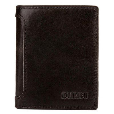 DUDINI Men Fashion portefeuille en cuir véritable bifold
