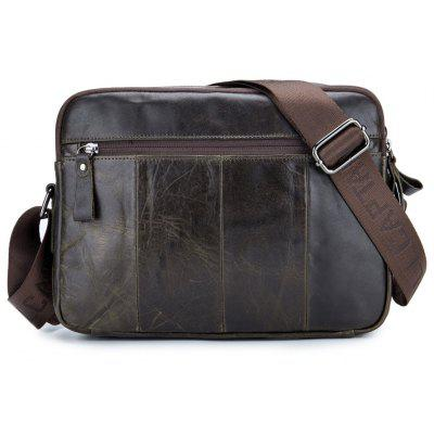 BULLCAPTAIN Men Retro Genuine Leather Messenger BagCrossbody Bags<br>BULLCAPTAIN Men Retro Genuine Leather Messenger Bag<br><br>Brand: BULLCAPTAIN<br>Closure Type: Zip<br>Features: Wearable<br>For: Daily Use, Outdoor, Shopping<br>Gender: Men<br>Material: Leather<br>Package Size(L x W x H): 31.00 x 3.00 x 23.00 cm / 12.2 x 1.18 x 9.06 inches<br>Package weight: 1.0100 kg<br>Packing List: 1 x Messenger Bag<br>Product weight: 1.0000 kg<br>Style: Business, Fashion<br>Type: Shoulder bag