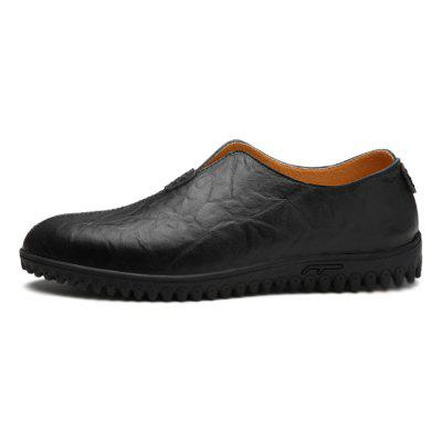 Men Unique Soft Business Grained Driving Flat LoafersFlats &amp; Loafers<br>Men Unique Soft Business Grained Driving Flat Loafers<br><br>Closure Type: Slip-On<br>Contents: 1 x Pair of Shoes, 1 x Box, 1 x Dustproof Paper<br>Function: Slip Resistant<br>Materials: Rubber, Leather<br>Occasion: Tea Party, Shopping, Office, Holiday, Party, Casual, Daily, Dress<br>Outsole Material: Rubber<br>Package Size ( L x W x H ): 33.00 x 24.00 x 13.00 cm / 12.99 x 9.45 x 5.12 inches<br>Package weight: 0.9000 kg<br>Pattern Type: Solid<br>Product weight: 0.7000 kg<br>Seasons: Autumn,Spring<br>Style: Modern, Leisure, Fashion, Comfortable, Casual, Business<br>Toe Shape: Round Toe<br>Type: Flat Shoes<br>Upper Material: Leather