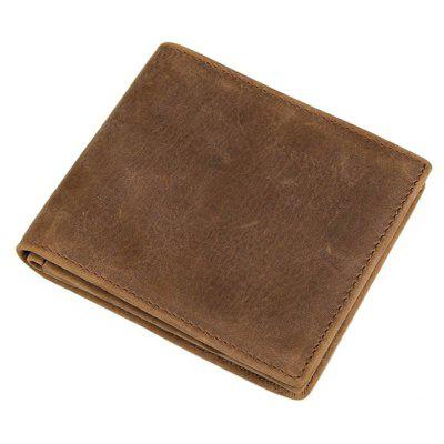DUDINI Men Retro Genuine Leather Bifold WalletWallets<br>DUDINI Men Retro Genuine Leather Bifold Wallet<br><br>Brand: DUDINI<br>Features: Wearable<br>For: Daily Use, Shopping<br>Gender: Men<br>Material: Leather<br>Package Size(L x W x H): 12.00 x 10.50 x 3.00 cm / 4.72 x 4.13 x 1.18 inches<br>Package weight: 0.1300 kg<br>Packing List: 1 x Wallet<br>Product Size(L x W x H): 11.00 x 9.50 x 2.00 cm / 4.33 x 3.74 x 0.79 inches<br>Product weight: 0.1200 kg<br>Style: Business, Fashion<br>Type: Wallet