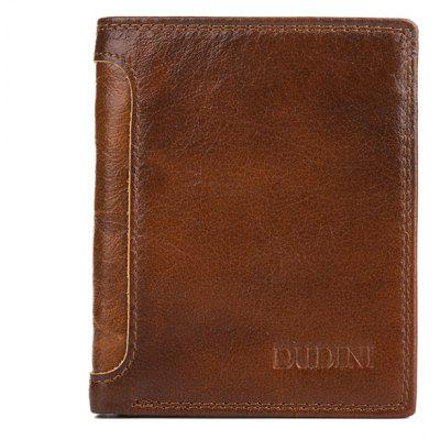 DUDINI Men Fashion Genuine Leather Bifold WalletWallets<br>DUDINI Men Fashion Genuine Leather Bifold Wallet<br><br>Brand: DUDINI<br>Features: Wearable<br>For: Daily Use, Outdoor, Shopping<br>Gender: Men<br>Material: Leather<br>Package Size(L x W x H): 13.00 x 11.00 x 3.00 cm / 5.12 x 4.33 x 1.18 inches<br>Package weight: 0.1100 kg<br>Packing List: 1 x Wallet<br>Product Size(L x W x H): 12.00 x 10.00 x 2.00 cm / 4.72 x 3.94 x 0.79 inches<br>Product weight: 0.1000 kg<br>Style: Fashion, Business<br>Type: Wallet