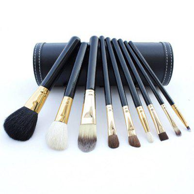Cosmetic Brushes with Bucket Holder 9pcs