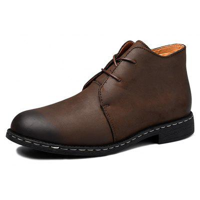 Men Vintage Brush-toe Casual Warmest Soft Ankle Boots