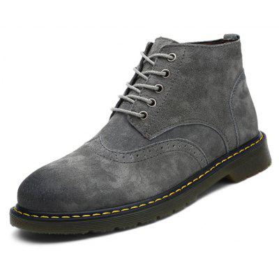 Men Classic Casual Bullock Mid BootsMens Boots<br>Men Classic Casual Bullock Mid Boots<br><br>Closure Type: Lace-Up<br>Contents: 1 x Pair of Shoes, 1 x Box, 1 x Dustproof Paper<br>Function: Slip Resistant<br>Lining Material: PU<br>Materials: Rubber, PU, Pigskin<br>Occasion: Tea Party, Shopping, Party, Outdoor Clothing, Office, Holiday, Casual, Daily<br>Outsole Material: Rubber<br>Package Size ( L x W x H ): 33.00 x 24.00 x 13.00 cm / 12.99 x 9.45 x 5.12 inches<br>Package weight: 0.9000 kg<br>Pattern Type: Solid<br>Product weight: 0.7000 kg<br>Seasons: Autumn,Winter<br>Style: Modern, Leisure, Fashion, Comfortable, Casual<br>Toe Shape: Round Toe<br>Type: Boots<br>Upper Material: Pigskin