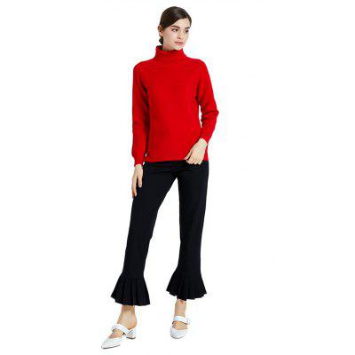 FRMZ Stylish Turtleneck Thermal Red Sweater