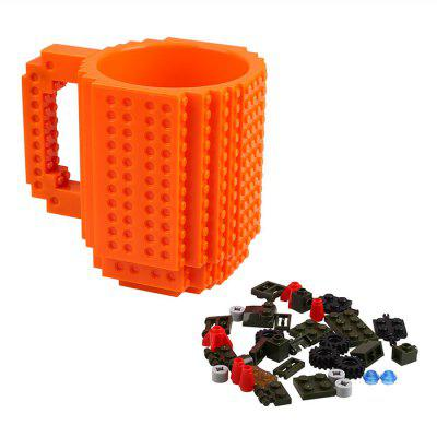 Creative DIY Build-on Brick Mug Building Blocks Coffee Tea Cup