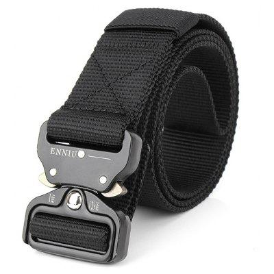 ENNIU Male Outdoor Tactical Training Belt with Cobra BuckleMens Belts<br>ENNIU Male Outdoor Tactical Training Belt with Cobra Buckle<br><br>Belt Buckle Type: Cobra Buckle<br>Material: Nylon<br>Package Size(L x W x H): 10.00 x 4.00 x 10.00 cm / 3.94 x 1.57 x 3.94 inches<br>Package weight: 0.2200 kg<br>Packing List: 1 x Belt<br>Product weight: 0.2000 kg<br>Style: Outdoor