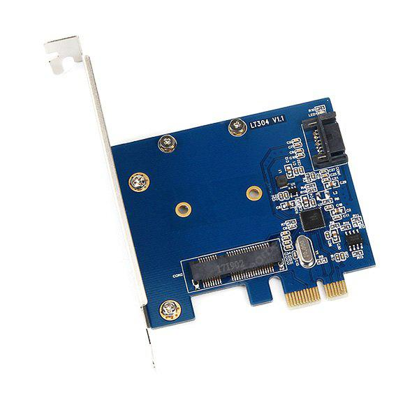 PCI - E to SATA3.0 + mSATA Converter Adapter Card