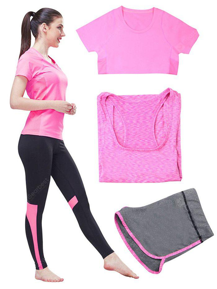 Female Five-piece Fitness Workout Clothes Yoga Sets