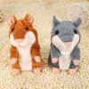 Talking Hamster Plush Toy - DARK GRAY