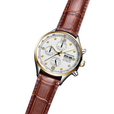 GUANQIN GJ16100 - 1A Genuine Leather Band Men WatchMens Watches<br>GUANQIN GJ16100 - 1A Genuine Leather Band Men Watch<br><br>Band material: Genuine Leather<br>Band size: 22 x 2cm<br>Brand: GUANQIN<br>Case material: Fine steel<br>Clasp type: Pin buckle<br>Dial size: 4.2 x 4.2 x 1.25cm<br>Display type: Analog<br>Movement type: Automatic mechanical watch<br>Package Contents: 1 x Watch, 1 x Box<br>Package size (L x W x H): 14.90 x 9.40 x 2.80 cm / 5.87 x 3.7 x 1.1 inches<br>Package weight: 0.1502 kg<br>Product size (L x W x H): 22.00 x 4.20 x 1.25 cm / 8.66 x 1.65 x 0.49 inches<br>Product weight: 0.0752 kg<br>Shape of the dial: Round<br>Watch mirror: Sapphire<br>Watch style: Fashion<br>Watches categories: Men