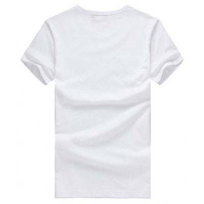 Casual Poker Motif T-shirtMens Short Sleeve Tees<br>Casual Poker Motif T-shirt<br><br>Material: Cotton<br>Neckline: Round Neck<br>Package Content: 1 x T-shirt<br>Package size: 26.00 x 20.00 x 1.00 cm / 10.24 x 7.87 x 0.39 inches<br>Package weight: 0.2200 kg<br>Product weight: 0.2000 kg<br>Season: Summer<br>Sleeve Length: Short Sleeves<br>Style: Casual