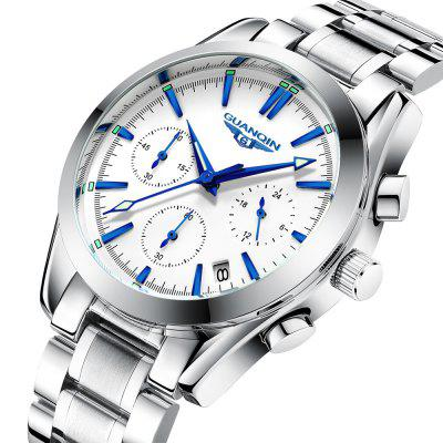 GUANQIN GS19096 Multifunctional Steel Quartz WatchMens Watches<br>GUANQIN GS19096 Multifunctional Steel Quartz Watch<br><br>Band material: Steel<br>Band size: 22.0 x 2.0cm<br>Brand: GUANQIN<br>Case material: Steel<br>Clasp type: Sheet folding clasp<br>Dial size: 4.0 x 4.0 x 1.0cm<br>Display type: Analog<br>Movement type: Quartz watch<br>Package Contents: 1 x Watch, 1 x Box<br>Package size (L x W x H): 14.90 x 9.40 x 2.80 cm / 5.87 x 3.7 x 1.1 inches<br>Package weight: 0.1974 kg<br>Product size (L x W x H): 22.00 x 4.00 x 1.00 cm / 8.66 x 1.57 x 0.39 inches<br>Product weight: 0.1224 kg<br>Shape of the dial: Round<br>Watch style: Fashion, Casual<br>Watches categories: Men<br>Water resistance: Life water resistant