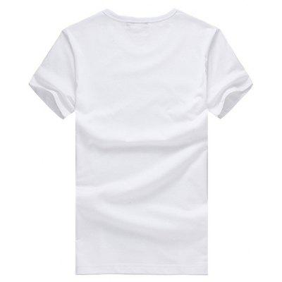 Casual Christmas Elk Motif T-shirtMens Short Sleeve Tees<br>Casual Christmas Elk Motif T-shirt<br><br>Material: Cotton<br>Neckline: Round Neck<br>Package Content: 1 x T-shirt<br>Package size: 26.00 x 20.00 x 1.00 cm / 10.24 x 7.87 x 0.39 inches<br>Package weight: 0.2200 kg<br>Product weight: 0.2000 kg<br>Season: Summer<br>Sleeve Length: Short Sleeves<br>Style: Casual