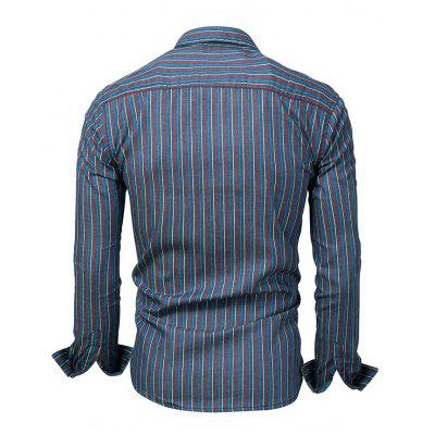 FREDD MARSHALL Striped ShirtMens Shirts<br>FREDD MARSHALL Striped Shirt<br><br>Brand: FREDD MARSHALL<br>Closure Type: Button<br>Material: Cotton<br>Package Contents: 1 x Shirt<br>Package size: 30.00 x 30.00 x 2.00 cm / 11.81 x 11.81 x 0.79 inches<br>Package weight: 0.2700 kg<br>Product weight: 0.2500 kg