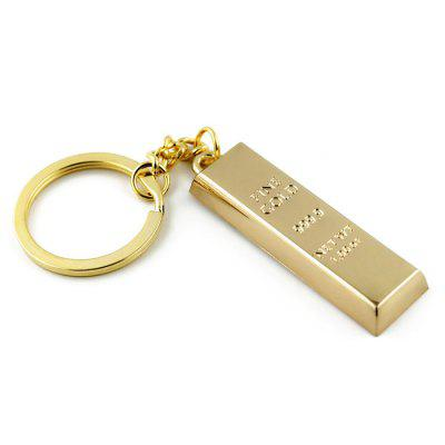 Keychain Gold Bullion Pattern Decoration Toy Gift