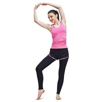 Simple Breathable Outdoor Sports Yoga Set for Women