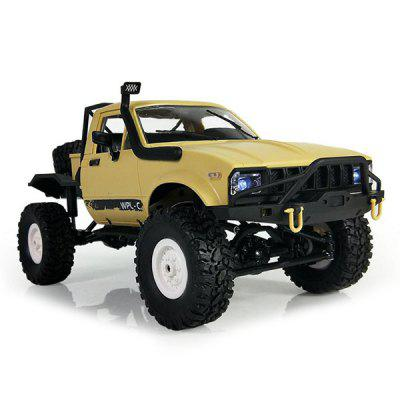 WPL C14 1:16 2.4G 2CH 4WD Mini Off-road RC Semi-truckRC Cars<br>WPL C14 1:16 2.4G 2CH 4WD Mini Off-road RC Semi-truck<br><br>Battery Information: 6V 700mAh NiCd, 6V 700mAh NiCd<br>Car Power: Built-in rechargeable battery, Built-in rechargeable battery<br>Channel: 2-Channels, 2-Channels<br>Charging Time: 120 Minutes, 120 Minutes<br>Control Distance: 30-80m, 30-80m<br>Detailed Control Distance: 30~40m, 30~40m<br>Drive Type: 4 WD<br>Functions: Climb, Climb<br>Material: TPR, Metal, TPR, Metal<br>Package Contents: 1 x RC Truck ( Battery Included ), 1 x Transmitter, 1 x USB Charger, 1 x English Manual, 1 x RC Truck ( Battery Included ), 1 x Transmitter, 1 x USB Charger, 1 x English Manual<br>Package size (L x W x H): 44.50 x 16.00 x 20.50 cm / 17.52 x 6.3 x 8.07 inches, 44.50 x 16.00 x 20.50 cm / 17.52 x 6.3 x 8.07 inches<br>Package weight: 1.3000 kg, 1.3000 kg<br>Product size (L x W x H): 31.00 x 14.10 x 14.00 cm / 12.2 x 5.55 x 5.51 inches, 31.00 x 14.10 x 14.00 cm / 12.2 x 5.55 x 5.51 inches<br>Product weight: 0.5700 kg, 0.5700 kg<br>Proportion: 1:16<br>Racing Time: 25 - 30mins, 25 - 30mins<br>Remote Control: 2.4GHz Wireless Remote Control, 2.4GHz Wireless Remote Control<br>Transmitter Power: 2 x 1.5V AA battery (not included), 2 x 1.5V AA battery (not included)<br>Type: Off-Road Car