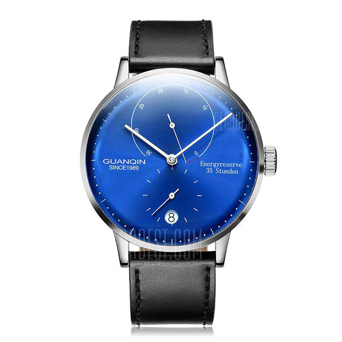 quartz pp com gearbest free men blue shipping band geneva s watch analog watches