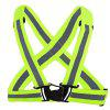 Elastic Traffic Safety Night Reflective Strap Braces - NEON GREEN