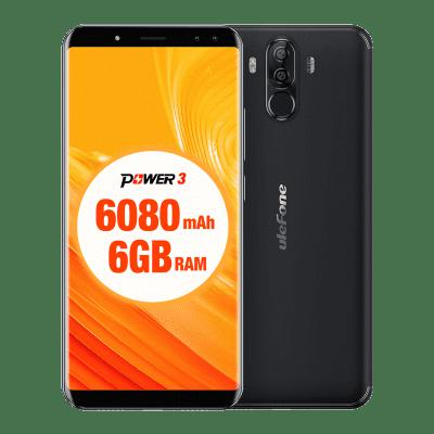 Ulefone Power 3 4G Phablet - BLACK