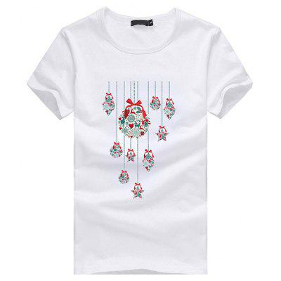 Christmas T-shirt with Decorative Star Motifs