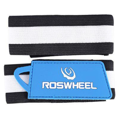 ROSWHEEL Rubber String Cycling Pants Leg Belt 2pcs
