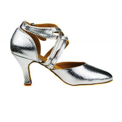 Women Scale Pattern High Heel Pumps for Latin DancingWomens Pumps<br>Women Scale Pattern High Heel Pumps for Latin Dancing<br><br>Closure Type: Buckle Strap<br>Contents: 1 x Pair of Shoes<br>Function: Slip Resistant<br>Lining Material: Cotton Fabric<br>Materials: PU, Leather, Fabric<br>Occasion: Tea Party, Shopping, Party, Office, Holiday, Dancing, Casual, Daily<br>Outsole Material: Leather<br>Package Size ( L x W x H ): 27.00 x 17.00 x 10.00 cm / 10.63 x 6.69 x 3.94 inches<br>Package weight: 0.5000 kg<br>Pattern Type: Solid<br>Product weight: 0.4000 kg<br>Seasons: Autumn,Spring,Summer<br>Style: Modern, Leisure, Fashion, Comfortable, Casual<br>Toe Shape: Pointed Toe<br>Type: Pumps<br>Upper Material: PU