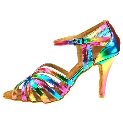 Women Colorful Soft High Heel Pumps for Waltz Latin DancingWomens Pumps<br>Women Colorful Soft High Heel Pumps for Waltz Latin Dancing<br><br>Closure Type: Buckle Strap<br>Contents: 1 x Pair of Shoes<br>Decoration: Hollow Out<br>Function: Slip Resistant<br>Lining Material: Cotton Fabric<br>Materials: PU, Fabric, Leather<br>Occasion: Tea Party, Shopping, Party, Casual, Daily, Dancing, Holiday<br>Outsole Material: Leather<br>Package Size ( L x W x H ): 27.00 x 17.00 x 10.00 cm / 10.63 x 6.69 x 3.94 inches<br>Package weight: 0.5000 kg<br>Product weight: 0.4000 kg<br>Seasons: Spring,Summer<br>Style: Modern, Leisure, Fashion, Comfortable, Casual<br>Toe Shape: Pointed Toe<br>Type: Pumps<br>Upper Material: PU