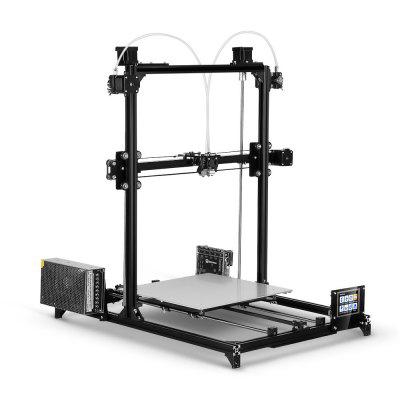 FLSUN i3 Plus Dual-extruder Touch Screen DIY 3D Printer Kit3D Printers, 3D Printer Kits<br>FLSUN i3 Plus Dual-extruder Touch Screen DIY 3D Printer Kit<br><br>Brand: FLSUN<br>Connector Type: USB, SD card<br>File format: STL, OBJ, G-code<br>Frame material: Aluminum<br>Host computer software: Cura,Repetier-Host<br>Language: English<br>Layer thickness: 0.1-0.4mm<br>LCD Screen: Yes<br>Material diameter: 1.75mm<br>Nozzle diameter: 0.4mm<br>Nozzle quantity: Double<br>Nozzle temperature: 240 - 260 Degree Celsius<br>Package size: 73.00 x 34.00 x 15.00 cm / 28.74 x 13.39 x 5.91 inches<br>Package weight: 10.0000 kg<br>Packing Contents: 1 x 3D Printer Kit, 1 x SD Card, 1 x Set of Tools, 2 x 100m PLA Filament<br>Packing Type: unassembled packing<br>Platform board: Aluminum Base<br>Platform temperature: 100 Degree Celsius<br>Print speed: 20 - 150mm/s<br>Product forming size: 30 x 30 x 42cm<br>Product size: 64.00 x 54.00 x 68.00 cm / 25.2 x 21.26 x 26.77 inches<br>Product weight: 8.5000 kg<br>Supporting material: PLA, ABS, PVA, Wood<br>System support: Mac OS, Windows 7 / 8 / XP<br>Type: DIY<br>Voltage: 110-240V<br>Working Power: 360W<br>XY-axis positioning accuracy: 0.012mm<br>Z-axis positioning accuracy: 0.04mm