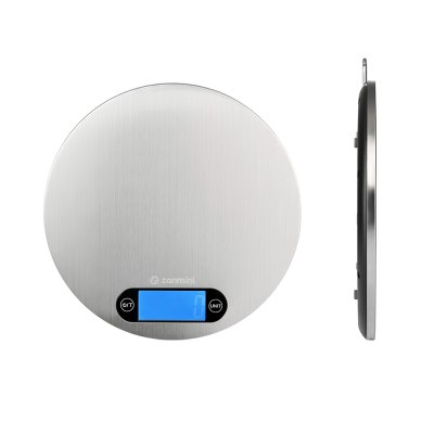 zanmini Digital Kitchen ScaleMills<br>zanmini Digital Kitchen Scale<br><br>Brand: zanmini<br>Package Contents: 1 x Kitchen Scale, 1 x English User Manual, 3 x AAA Battery<br>Package size (L x W x H): 22.00 x 21.50 x 2.80 cm / 8.66 x 8.46 x 1.1 inches<br>Package weight: 0.4600 kg<br>Product size (L x W x H): 20.00 x 20.00 x 1.60 cm / 7.87 x 7.87 x 0.63 inches<br>Product weight: 0.3300 kg