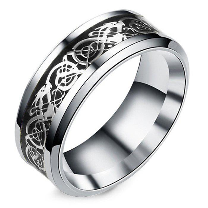 Stylish Men Open Dragon Pattern Ring