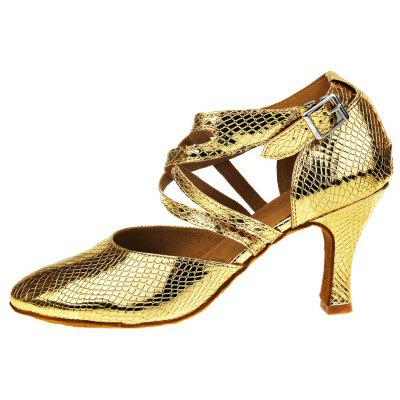 Women Soft Lustrous Scale Pattern Latin Waltz Dance PumpsWomens Pumps<br>Women Soft Lustrous Scale Pattern Latin Waltz Dance Pumps<br><br>Closure Type: Buckle Strap<br>Contents: 1 x Pair of Shoes<br>Decoration: Hollow Out<br>Function: Slip Resistant<br>Lining Material: Cotton Fabric<br>Materials: PU, Fabric, Leather<br>Occasion: Tea Party, Party, Office, Casual, Daily, Shopping, Dancing, Holiday<br>Outsole Material: Leather<br>Package Size ( L x W x H ): 27.00 x 17.00 x 10.00 cm / 10.63 x 6.69 x 3.94 inches<br>Package weight: 0.5000 kg<br>Pattern Type: Solid<br>Product weight: 0.4000 kg<br>Seasons: Spring,Summer<br>Style: Modern, Leisure, Fashion, Comfortable, Casual<br>Toe Shape: Pointed Toe<br>Type: Pumps<br>Upper Material: PU