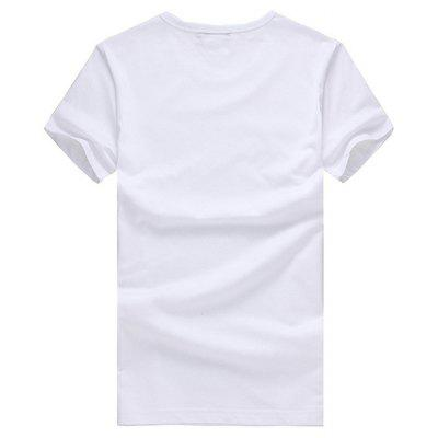 Short Sleeves T-shirt with Flowers Letters MotifsMens Short Sleeve Tees<br>Short Sleeves T-shirt with Flowers Letters Motifs<br><br>Material: Cotton<br>Neckline: Round Neck<br>Package Content: 1 x T-shirt<br>Package size: 26.00 x 20.00 x 1.00 cm / 10.24 x 7.87 x 0.39 inches<br>Package weight: 0.2200 kg<br>Product weight: 0.2000 kg<br>Season: Summer<br>Sleeve Length: Short Sleeves<br>Style: Casual