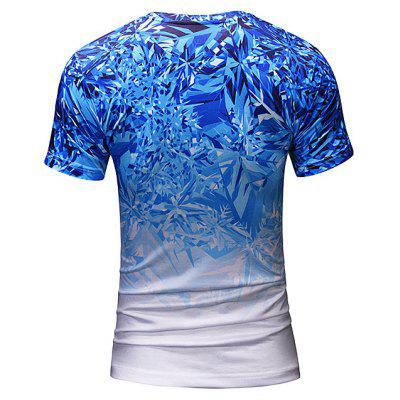 Men 3D Ice Crystal Print Round Neck Short Sleeve T-shirtMens Short Sleeve Tees<br>Men 3D Ice Crystal Print Round Neck Short Sleeve T-shirt<br><br>Material: Polyester, Spandex<br>Neckline: Round Neck<br>Package Content: 1 x T-shirt<br>Package size: 38.00 x 30.00 x 1.00 cm / 14.96 x 11.81 x 0.39 inches<br>Package weight: 0.2200 kg<br>Product weight: 0.2000 kg<br>Season: Summer<br>Sleeve Length: Short Sleeves<br>Style: Casual