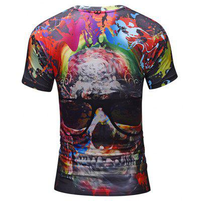 Mr 1991 INC Miss Go T-shirt with Cool Skull MotifMens Short Sleeve Tees<br>Mr 1991 INC Miss Go T-shirt with Cool Skull Motif<br><br>Brand: Mr.1991INC&amp;Miss.Go<br>Material: Polyester, Spandex<br>Neckline: Round Neck<br>Package Content: 1 x T-shirt<br>Package size: 38.00 x 30.00 x 1.00 cm / 14.96 x 11.81 x 0.39 inches<br>Package weight: 0.2200 kg<br>Product weight: 0.2000 kg<br>Season: Summer<br>Sleeve Length: Short Sleeves<br>Style: Casual