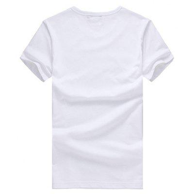 Short Sleeves T-shirt with Cute Letters MotifsMens Short Sleeve Tees<br>Short Sleeves T-shirt with Cute Letters Motifs<br><br>Material: Cotton<br>Neckline: Round Neck<br>Package Content: 1 x T-shirt<br>Package size: 26.00 x 20.00 x 1.00 cm / 10.24 x 7.87 x 0.39 inches<br>Package weight: 0.2200 kg<br>Product weight: 0.2000 kg<br>Season: Summer<br>Sleeve Length: Short Sleeves<br>Style: Casual