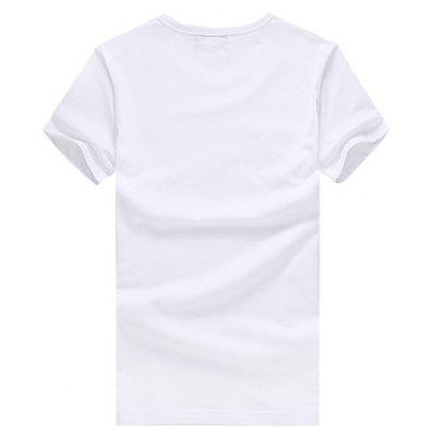 Men 3D Stylish Print Round Neck Short Sleeve T-shirtMens Short Sleeve Tees<br>Men 3D Stylish Print Round Neck Short Sleeve T-shirt<br><br>Fabric Type: Cotton<br>Neckline: Round Neck<br>Package Content: 1 x T-shirt<br>Package size: 26.00 x 20.00 x 1.00 cm / 10.24 x 7.87 x 0.39 inches<br>Package weight: 0.2200 kg<br>Product weight: 0.2000 kg<br>Season: Summer<br>Sleeve Length: Short Sleeves<br>Style: Casual