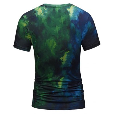 Leisure 3D Lion Print Round Neck Short Sleeve T-shirtMens Short Sleeve Tees<br>Leisure 3D Lion Print Round Neck Short Sleeve T-shirt<br><br>Material: Polyester, Spandex<br>Neckline: Round Neck<br>Package Content: 1 x T-shirt<br>Package size: 38.00 x 30.00 x 1.00 cm / 14.96 x 11.81 x 0.39 inches<br>Package weight: 0.2200 kg<br>Product weight: 0.2000 kg<br>Season: Summer<br>Sleeve Length: Short Sleeves<br>Style: Casual