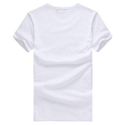 Simple Short Sleeves T-shirt with Panda MotifMens Short Sleeve Tees<br>Simple Short Sleeves T-shirt with Panda Motif<br><br>Material: Cotton<br>Neckline: Round Neck<br>Package Content: 1 x T-shirt<br>Package size: 26.00 x 20.00 x 1.00 cm / 10.24 x 7.87 x 0.39 inches<br>Package weight: 0.2200 kg<br>Product weight: 0.2000 kg<br>Season: Summer<br>Sleeve Length: Short Sleeves<br>Style: Casual