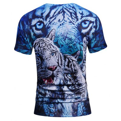 3D Trendy Tiger Print Round Neck Short Sleeve T-shirtMens Short Sleeve Tees<br>3D Trendy Tiger Print Round Neck Short Sleeve T-shirt<br><br>Neckline: Round Neck<br>Package Content: 1 x T-shirt<br>Package size: 38.00 x 30.00 x 1.00 cm / 14.96 x 11.81 x 0.39 inches<br>Package weight: 0.2200 kg<br>Product weight: 0.2000 kg<br>Season: Summer<br>Sleeve Length: Short Sleeves<br>Style: Casual