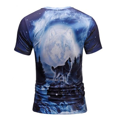 Men 3D Trendy Wolf Print Round Neck Short Sleeve T-shirtMens Short Sleeve Tees<br>Men 3D Trendy Wolf Print Round Neck Short Sleeve T-shirt<br><br>Neckline: Round Neck<br>Package Content: 1 x T-shirt<br>Package size: 38.00 x 30.00 x 1.00 cm / 14.96 x 11.81 x 0.39 inches<br>Package weight: 0.2200 kg<br>Product weight: 0.2000 kg<br>Season: Summer<br>Sleeve Length: Short Sleeves<br>Style: Casual