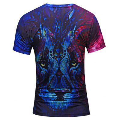 Mr 1991 INC Miss Go Creative Lion Head Motif T-shirtMens Short Sleeve Tees<br>Mr 1991 INC Miss Go Creative Lion Head Motif T-shirt<br><br>Brand: Mr.1991INC&amp;Miss.Go<br>Material: Polyester, Spandex<br>Neckline: Round Neck<br>Package Content: 1 x T-shirt<br>Package size: 38.00 x 30.00 x 1.00 cm / 14.96 x 11.81 x 0.39 inches<br>Package weight: 0.2200 kg<br>Product weight: 0.2000 kg<br>Season: Summer<br>Sleeve Length: Short Sleeves<br>Style: Casual