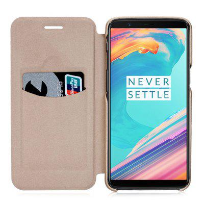 LENUO Skid-proof Phone Back Cover for OnePlus 5TCases &amp; Leather<br>LENUO Skid-proof Phone Back Cover for OnePlus 5T<br><br>Brand: LENUO<br>Features: Anti-knock, Back Cover, Dirt-resistant<br>Material: PC, PU Leather<br>Package Contents: 1 x Case<br>Package size (L x W x H): 18.20 x 10.60 x 2.00 cm / 7.17 x 4.17 x 0.79 inches<br>Package weight: 0.0600 kg<br>Product Size(L x W x H): 15.80 x 7.80 x 1.00 cm / 6.22 x 3.07 x 0.39 inches<br>Product weight: 0.0430 kg<br>Style: Modern