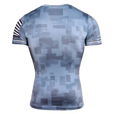 CTSmart TD67 Quick Dry Printed Fitted Exercise T-ShirtWeight Lifting Clothes<br>CTSmart TD67 Quick Dry Printed Fitted Exercise T-Shirt<br><br>Brand: CTSmart<br>Features: Breathable, Quick Dry<br>Gender: Men<br>Material: Polyester<br>Package Content: 1 x T-Shirt<br>Package size: 26.00 x 20.00 x 2.00 cm / 10.24 x 7.87 x 0.79 inches<br>Package weight: 0.2000 kg<br>Product weight: 0.1800 kg