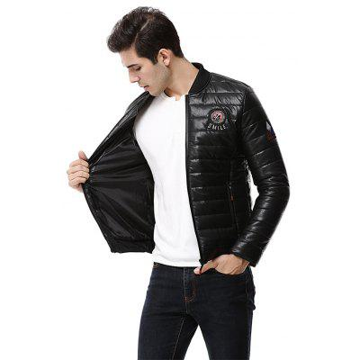 Man Fashion Quilted Leather JacketMens Jackets &amp; Coats<br>Man Fashion Quilted Leather Jacket<br><br>Closure Type: Zipper<br>Clothes Type: Leather Jacket<br>Embellishment: Others<br>Materials: PU<br>Occasion: Daily Use<br>Package Content: 1 x Leather Jacket<br>Package Dimension: 45.00 x 60.00 x 1.00 cm / 17.72 x 23.62 x 0.39 inches<br>Package weight: 0.8700 kg<br>Pattern Type: Letter<br>Product weight: 0.8500 kg<br>Seasons: Winter<br>Shirt Length: Regular<br>Sleeve Length: Long Sleeves<br>Style: Fashion<br>Thickness: Medium thickness