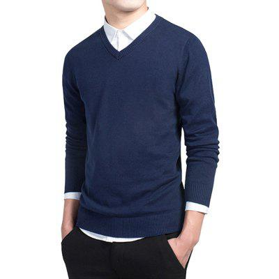 Male Fashion Slim Fit Knitting SweaterMens Sweaters &amp; Cardigans<br>Male Fashion Slim Fit Knitting Sweater<br><br>Material: Cotton<br>Package Contents: 1 x Knitting Sweater<br>Package size: 35.00 x 25.00 x 2.00 cm / 13.78 x 9.84 x 0.79 inches<br>Package weight: 0.3700 kg<br>Product weight: 0.3500 kg