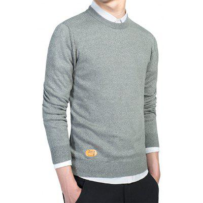 Man Round Collar Knitting SweaterMens Sweaters &amp; Cardigans<br>Man Round Collar Knitting Sweater<br><br>Material: Cotton, Spandex<br>Occasion: Casual<br>Package Contents: 1 x Knitting Sweater<br>Package size: 35.00 x 25.00 x 2.00 cm / 13.78 x 9.84 x 0.79 inches<br>Package weight: 0.5200 kg<br>Product weight: 0.5000 kg<br>Thickness: Regular
